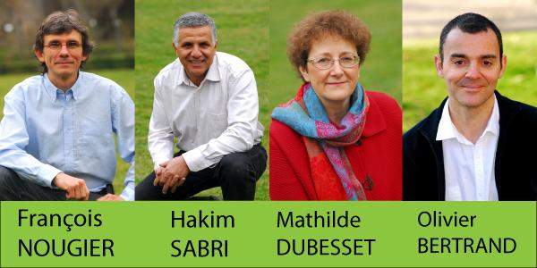 Les 4 candidats écologistes du 2e tour en Isère