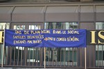 Mobilisation des travailleurs sociaux devant le conseil général - 12/4/13