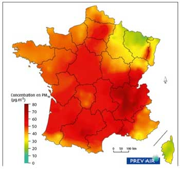 carte France PM10